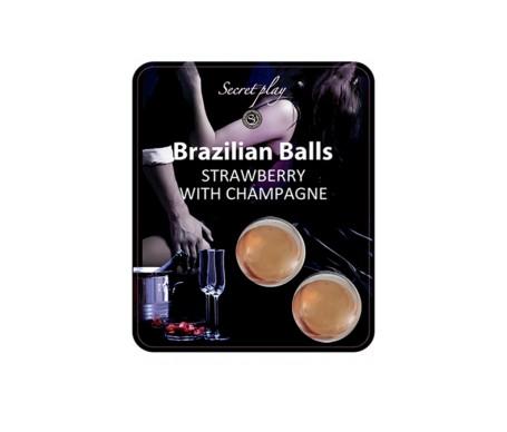 Secret Play Set 2 Brazilian Balls Aroma Fresa Cava 8 Gr