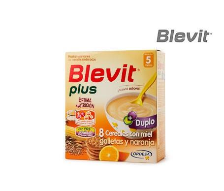 Blevit® 8 cereales con miel, galletas y naranja 600g