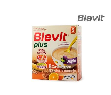 Blevit® 8 cereales con galletas y naranja 600g