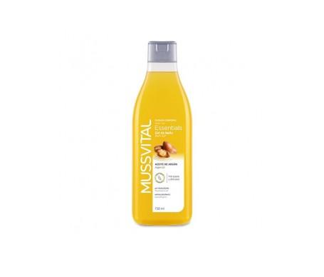 Mussvital gel de baño aceite de argan y vitamina F 750ml
