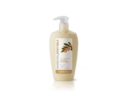 Mussvital body milk aceite de argán con vitamina F 300ml
