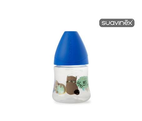 Suavinex® biberón anatómico tetina látex boca ancha 0-6 meses 150ml 1ud