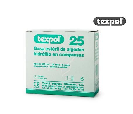 Texpolgasas sterili 25 pz
