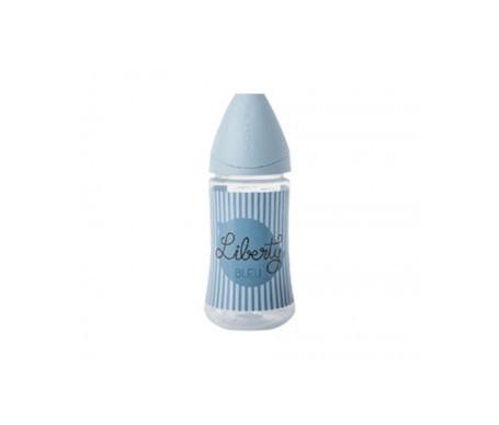Suavinex®  Vintage biberón boca ancha látex 3 Posiciones 270ml