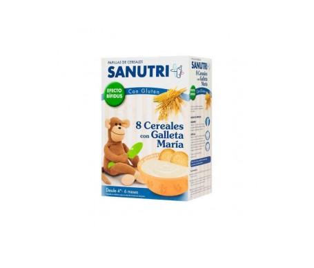 Sanutri 8 cereales con galleta maría efecto bífidus 600g