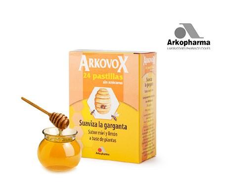 Arkovox pastillas sabor miel y limón 24uds