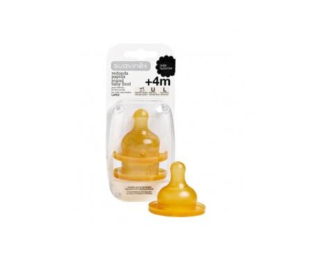 Suavinex®  tetina látex boca ancha papilla 4m+ 2uds